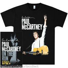 "PAUL MCCARTNEY ""ON THE RUN"" YANKEE STADIUM OFFICIAL TOUR T-SHIRT MEN'S LARGE"