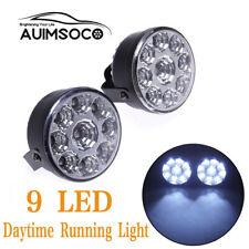 Quality 9LED Round Car Fog Lamp Driving Daytime Running Lights Head Light White