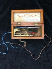Vintage antique medical doctors magneto electric machine electro therapy device