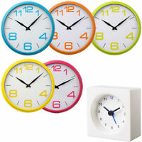 Funky Wall Clocks In Different Colour Plastic Frame For Home Office Kitchen