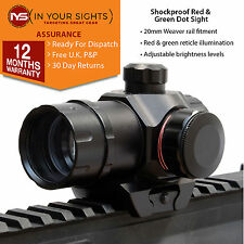 Red & Green Dot Sight/Parallax libero FUCILE MIRINO/WEAVER RAIL mirino Olografico