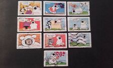 10 TIMBRES COLLECTION COMPLETE CUBITUS 2006 FRANCE