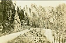 Black Hills SD Auto Touring Cathedral Rocks at the Switchbacks on Needles Drive