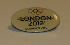 Badge pin  for collectors - olympic games London 2012 Candidate City