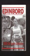 Edinboro Fighting Scots--2005-06 Fall/Winter Sports Pocket Schedule--PNC Bank