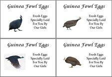 LARGE PERSONALISED GUINEA FOWL EGG BOX LABELS 8 Per Sheet