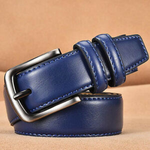 Men's Fashion Genuine Leather Belts for Men Belt Pin Buckle Casual Male Strap