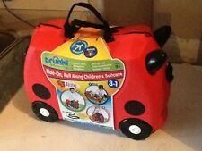 MELISSA & DOUG TRUNKI Ruby Ride on Red Rolling Luggage Travel Case Suitcase