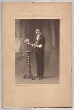 Cabinet Card Photo Of Carl J. Felsman brother of Arthur P. Felsman - Card Trick