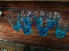 Blue Shotglass/dessert Cups Set Of 7. Really beautiful set