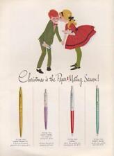 1962 Papermate PRINT AD feat: Capri Mark IV Lady Capri Capri & Piggy Back cute