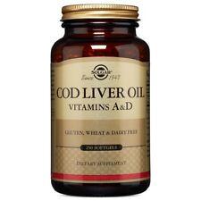 Solgar Foie de Morue Huile (Vitamine A & D Supplément) 250 Gélule
