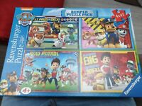 Ravensburger Jigsaw Paw Patrol Bumper Puzzle Pack of 4 x 42 Pieces Complete