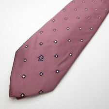 Christian Dior Polyester Mens Necktie Pink Foulard Tie 124-3