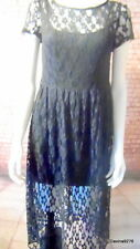 dolly black lace dress short sleeve 12 NWT