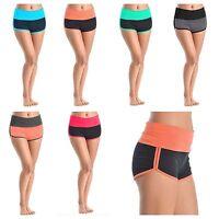 Women Jogger Shorts Gym Yoga Fitness Workout Cotton Muscle Sports Short Pants