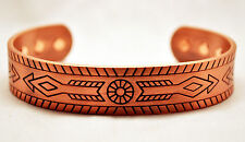MENS 7 IN 100% COPPER INDIAN ARROW MAGNETIC THERAPY BANGLE / CUFF : For Pain!