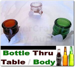 BOTTLE THROUGH TABLE OR BODY 3 MAGIC TRICK GIMMICKS INCLUDED FOR COKE BEER WINE