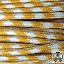 Textilkabel Stoffkabel Lampen-Kabel Stromkabel Stern Gelb 3 adrig