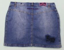 Rocawear Womens Distressed Sexy Since 1999 Denim Skirt Size 16 Blue EUC #13712