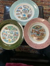 Vintage Commemorative Plates - Arizona, New Mexico, Missouri