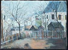 Huile sur toile signée GUY paysage urbain Paris Montmartre Sacré-Coeur
