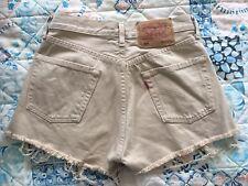 Levi's 501 Denim Cut Off Shorts Camel Size 6-8