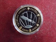 *Lettland 1 Euro Probe Silber PP ca.25g(999) 2003 mit Teilvergoldung*(KOM.)