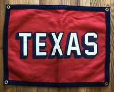 Oxford Pennant Stag Exclusive New Texas Camp Flag - Red/Cream/Navy made in Usa