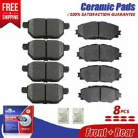 Front and Rear Ceramic Brake Pads Set For Pontiac Vibe, Toyota Corolla Matrix