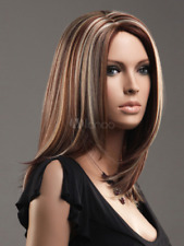 100% hair fashion sexy new style ladies long smooth parrucca peluea wig wigs