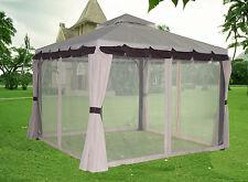 3x3M Luxury Aluminium Pavilion Gazebo Awning Canopy Sun Shade Screen Shelter New
