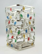 Bath & Body Works Silver Christmas Light Angled Soap Lotion Holder Sleeve New