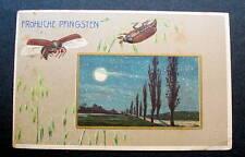 GERMANY  1908 postcard Flying Beetles moonlit scene FROHLICHE PFINGSTEN