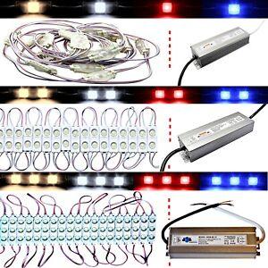 1er 2er 3er LED Module - Warm White Cold - Travo 12V 230V Advertising Lighting
