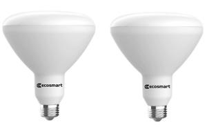 EcoSmart 90-Watt Equivalent BR40 Dimmable Energy Star LED Soft White, 2-Pack