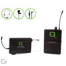 q-audio qwm 1900bp UHF sans-fil unité de poche Pince à cravate Écouteur Lavalier