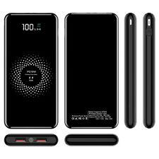 Qi Wireless Power Bank 900000mAh Backup Fast Portable Charger External Battery !