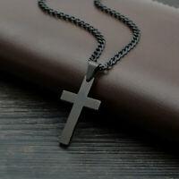 Acero Inoxidable Colgante de Cruz Hombre Mujer Cadena Religioso Joyería Bonito