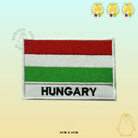 Hungary National Flag With Name Embroidered Iron On Sew On Patch Badge