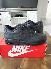 🔥Nike Air Max 90 Leather Men's Size 11 (Triple Black) retail$120 👟🔌
