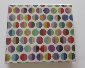 "Brighton Cube Sticky Notes and Pen-polka dot pattern- blue red brown 3""X5"" paper"