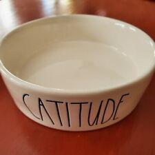 Rae Dunn Magenta Catitude Cat Food or Water Bowl New