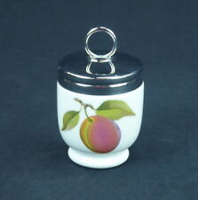 Royal Worcester Evesham Gold Single Egg Coddler with Lid  Peach Berries England