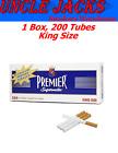 Premier Full Flavor King Size Cigarette Tubes 1 CARTON 200 Tubes
