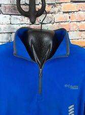 Men's Columbia Titanium Polyester Fleece Jacket Pullover Size 2XL XXL Blue