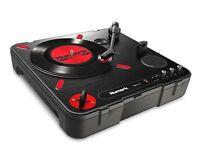 Numark PT01 Scratch Portable DJ Turntable w/Scratch Switch+Speaker USB/AUX/RCA