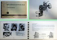 ZF Z14 Außenbord-Trieb Anbauanleitung Bedienung Einbau
