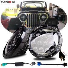 LED Headlight Headlamp Upgrade Replace HID Xenon Halogen For Jeep CJ CJ5 CJ7