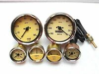 Smiths Replica 52mm Gauges Kit-Temp+ Oil+Fuel+ Amp Gauge+Mechanical Tacho+Speedo